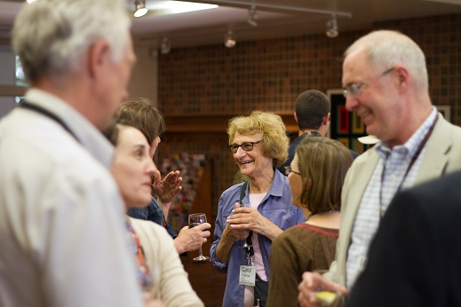 David Pex, Phelosha Collaros, Carol Freeman, and Mike Peters at the opening reception of ALF 2015